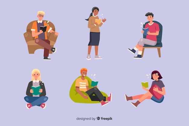 Jongeren lezen en ontspannen