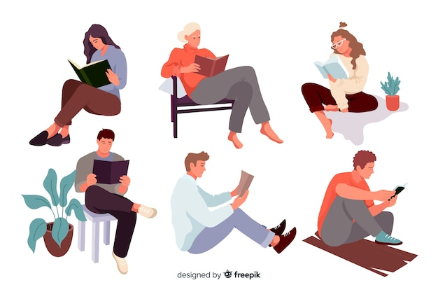 Jongeren lezen van een boek
