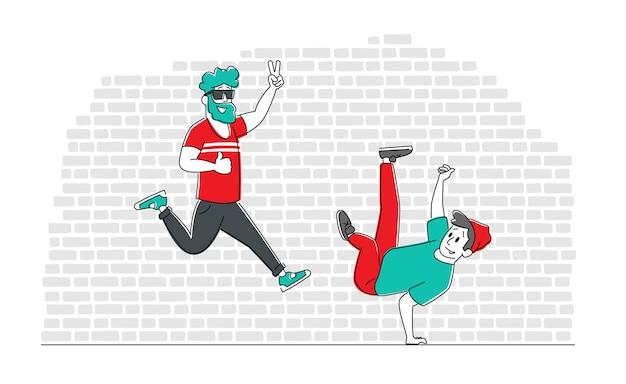 Jongeren sparetime met modern dansen