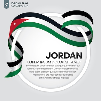 Jordan lint vlag vector illustratie op een witte achtergrond