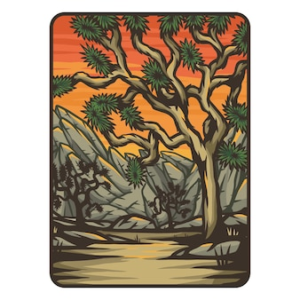 Joshua tree-badge