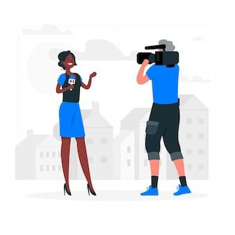 Journalist concept illustratie