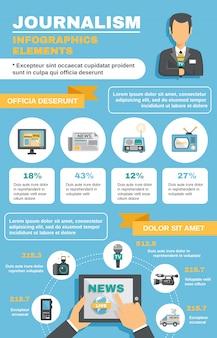 Journalist infographic elementen