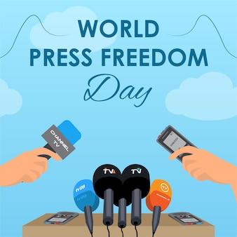 Journalisten en persdag wereldpersvrijheidsdag