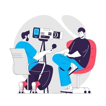 Journalistiek concept illustratie