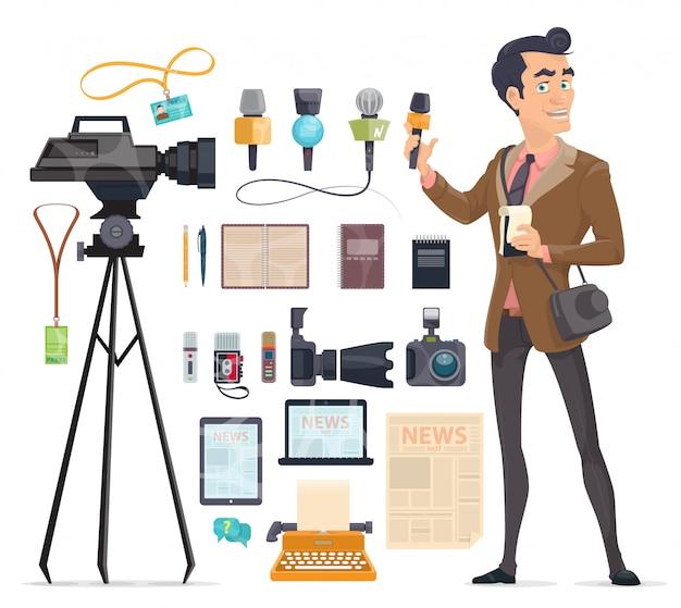 Journalistiek elementen instellen