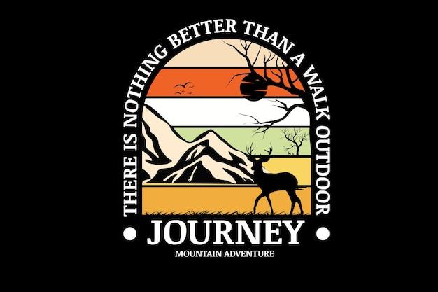 Journey mountain adventure kleur crème oranje wit en geel
