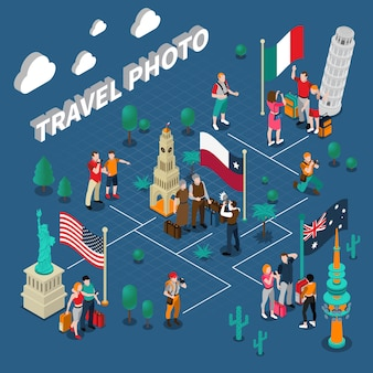 Journey people isometric template