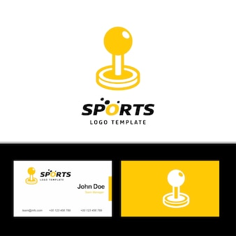 Joystick-logo en visitekaartje