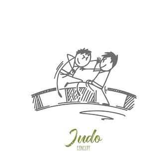 Judo concept illustratie