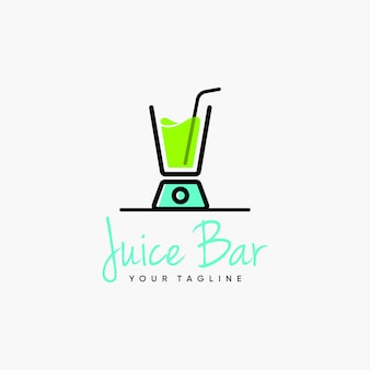 Juice bar blender logo design inspiratie