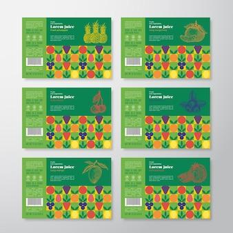 Juice label sjablonen bundel