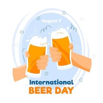 Juichend internationaal bierdagevenement