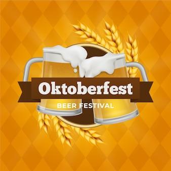 Juichende mokken gevuld met bier