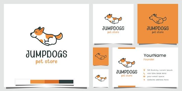 Jump dogs dierenwinkel logo ontwerp inspiratie