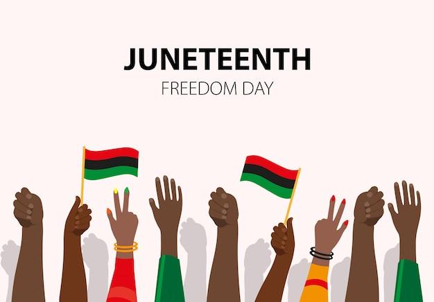 Juneteenth, afro-amerikaanse onafhankelijkheidsdag, 19 juni. dag van vrijheid en emancipatie.