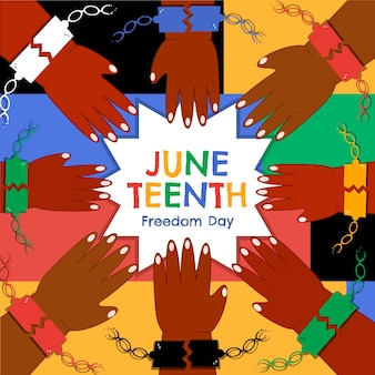 Juneteenth viering illustratie