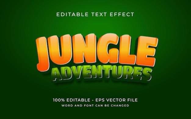 Jungle avontuur teksteffect stijl bewerkbaar teksteffect