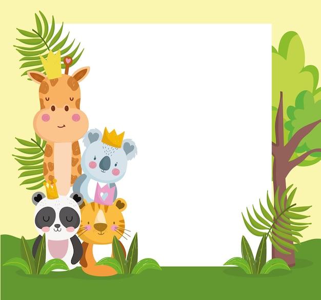 Jungle dieren schattig