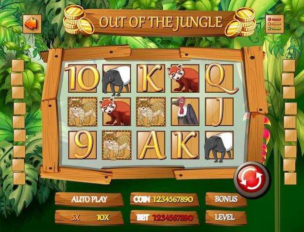 Jungle dierensjabloon voor spel