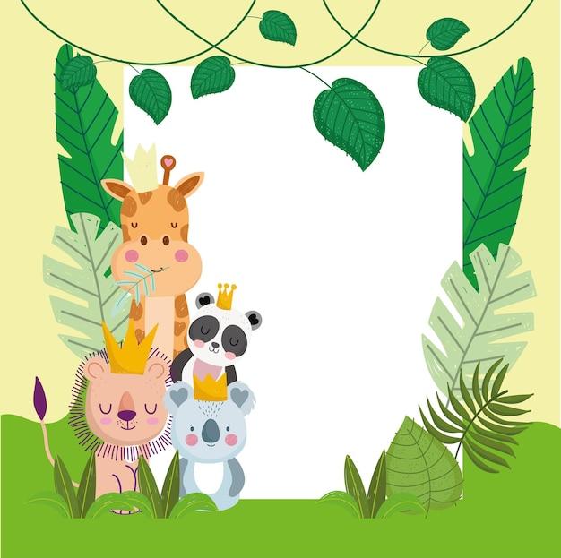 Jungle gebladerte en dieren