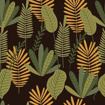 Jungle naadloze patroon.