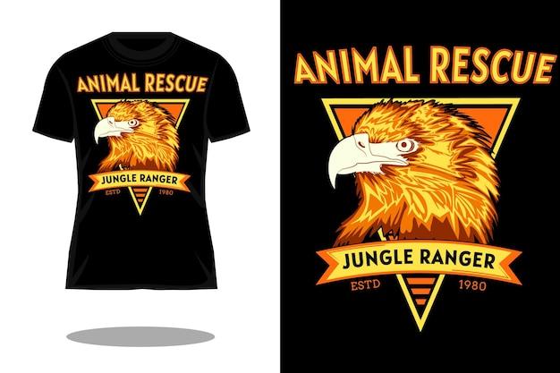 Jungle ranger retro t-shirt ontwerp