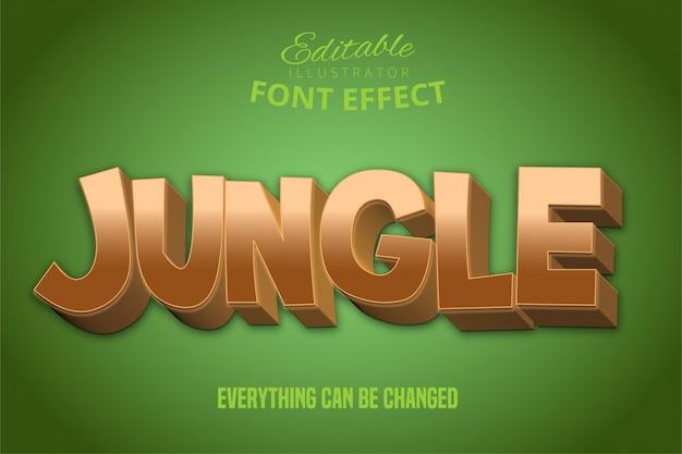 Jungle tekst, 3d bewerkbaar lettertype-effect