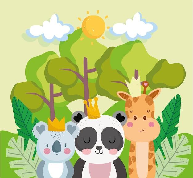 Jungle vegetatie en dieren