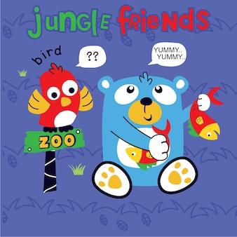 Jungle vrienden cartoon vector