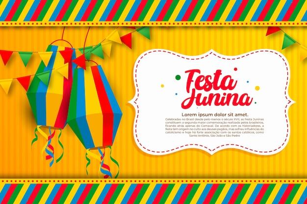 Juni festival viering plat ontwerp