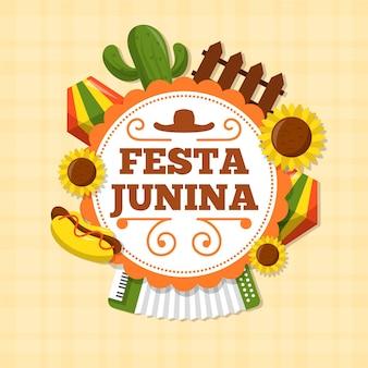 Juni festival vlakke stijl