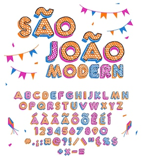 Juni viering kleurrijke letters