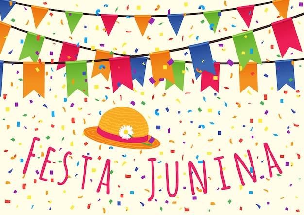 Junifeest in brazilië. latijns-amerikaanse feestdag, het junifeest van brazilië.