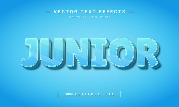Junior 3d bewerkbaar teksteffect