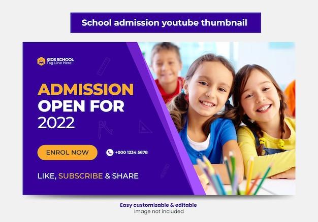 Junior toelating schoolonderwijs youtube thumbnail ontwerp en webbanner