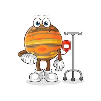 Jupiter ziek in iv-afbeelding