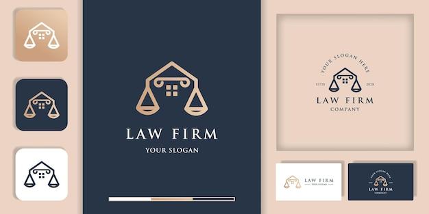 Juridisch advies huis logo, modern vintage logo