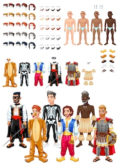 Jurken en kapselspel met mannelijke avatars