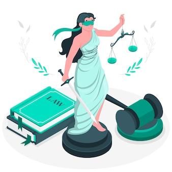 Justitie concept illustratie
