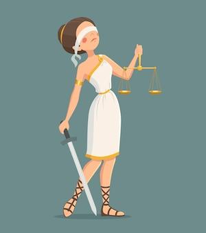 Justitie dame illustratie