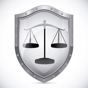 Justitie schild embleem