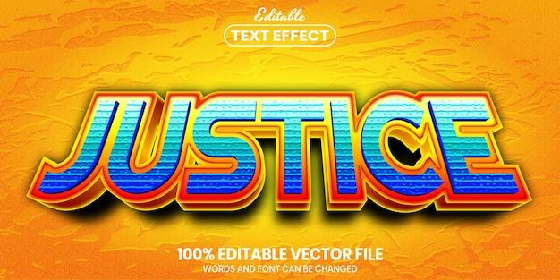 Justitie-tekst, bewerkbaar teksteffect in lettertypestijl