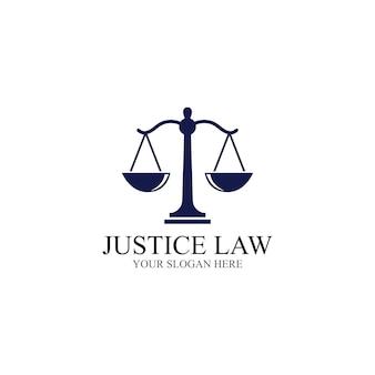 Justitie wet logo sjabloon vector illustratie ontwerp