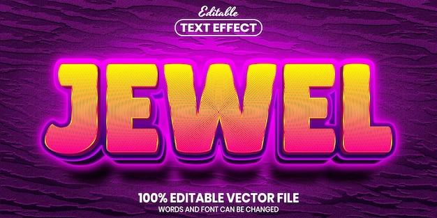 Juweeltekst, bewerkbaar teksteffect in lettertypestijl