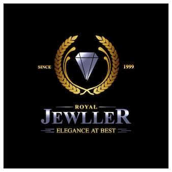 Juwelen logo achtergrond