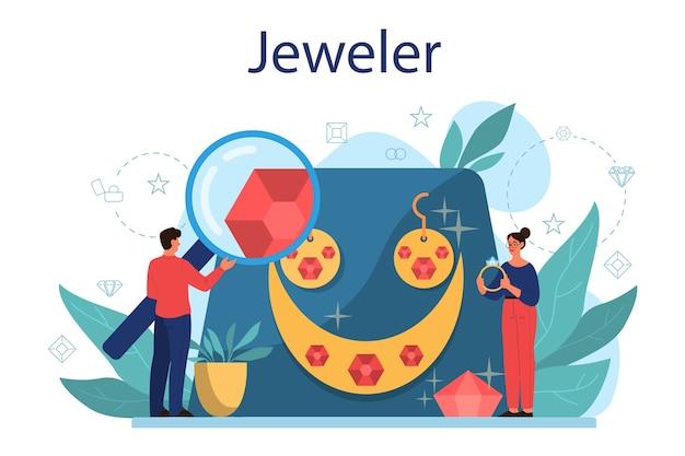 Juwelier concept illustratie
