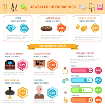 Juwelier infographics set