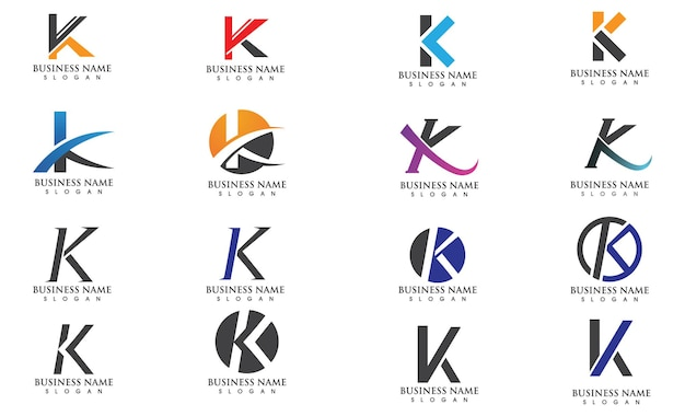 K letter vector illustratie pictogram logo sjabloonontwerp