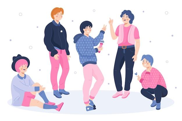 K-pop jongensgroep concept